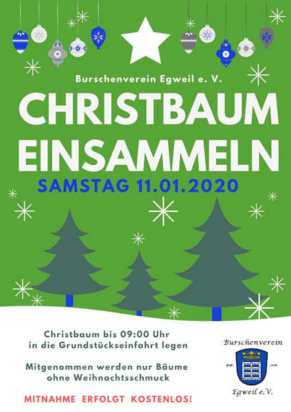 Burschenverein Christbaum 20200111