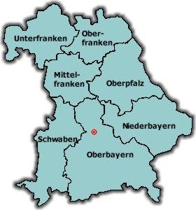 Karte Oberfranken Unterfranken Mittelfranken.Gemeinde